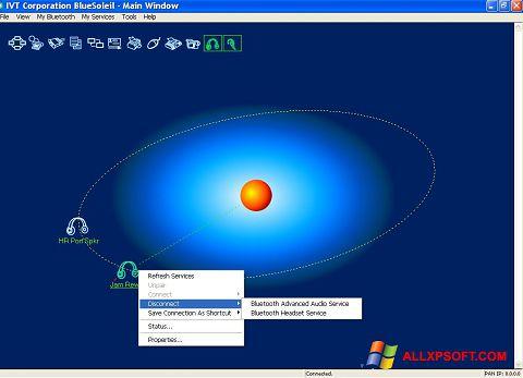 Posnetek zaslona BlueSoleil Windows XP