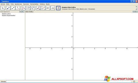 Posnetek zaslona GeoGebra Windows XP