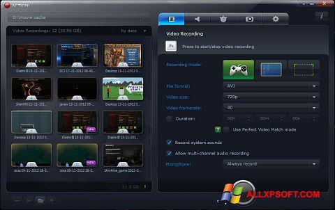 Posnetek zaslona Action! Windows XP