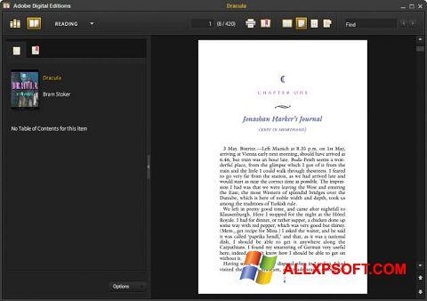 Posnetek zaslona Adobe Digital Editions Windows XP