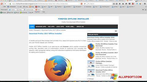 Posnetek zaslona Mozilla Firefox Offline Installer Windows XP