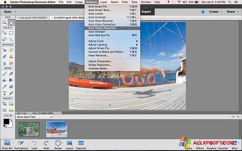 Posnetek zaslona Photoshop Elements Windows XP