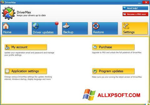 Posnetek zaslona DriverMax Windows XP