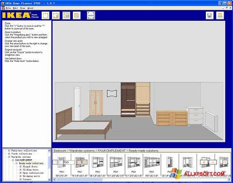 Posnetek zaslona IKEA Home Planner Windows XP