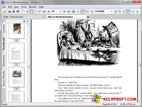 Posnetek zaslona DjView Windows XP