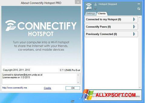 Posnetek zaslona Connectify Pro Windows XP