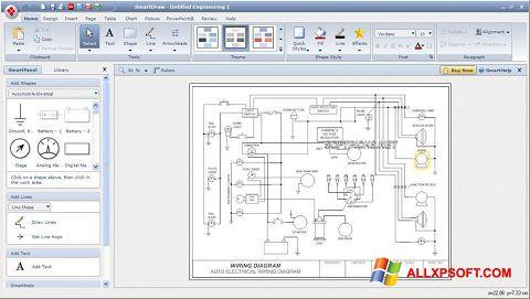 Posnetek zaslona SmartDraw Windows XP