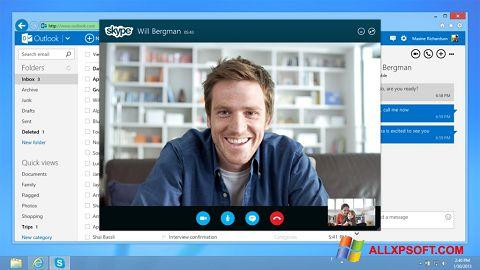 Posnetek zaslona Skype Windows XP
