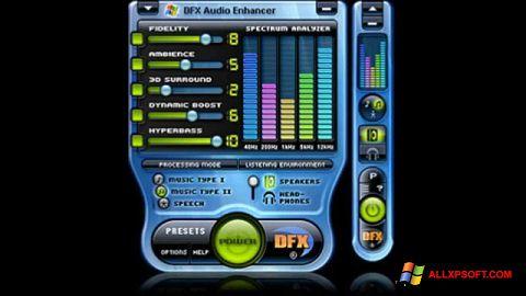 Posnetek zaslona DFX Audio Enhancer Windows XP