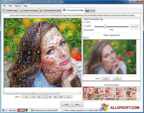 Posnetek zaslona Photo Collage Windows XP