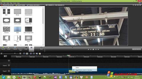 Posnetek zaslona Camtasia Studio Windows XP