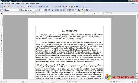 Posnetek zaslona OpenOffice Windows XP