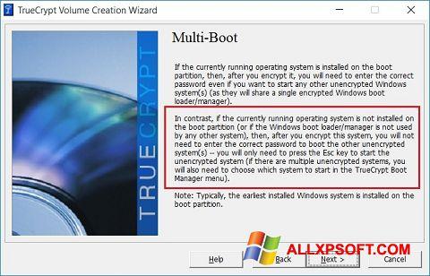 Posnetek zaslona MultiBoot Windows XP