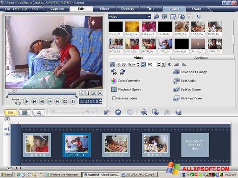 Posnetek zaslona Ulead VideoStudio Windows XP