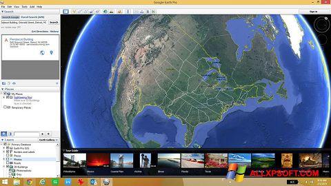 Posnetek zaslona Google Earth Windows XP